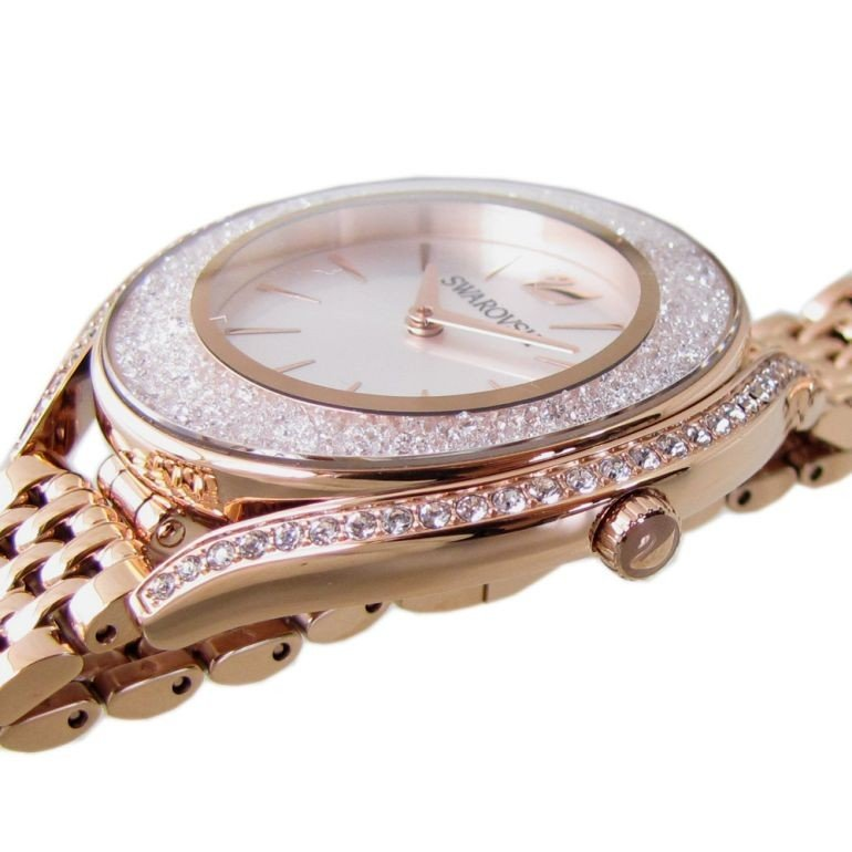 スワロフスキー SWAROVSKI 腕時計 レディース ローズゴールド ブレスレットウォッチ CRYSTALLINE AURA 5519459|alevelshop|03