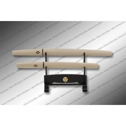 【匠刀房】刀剣型ペーパーナイフ 大小揃 白鞘 掛台付|alex-kyowa