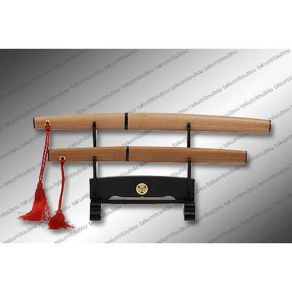 【匠刀房】刀剣型ペーパーナイフ 豆太刀 大小掛台付|alex-kyowa