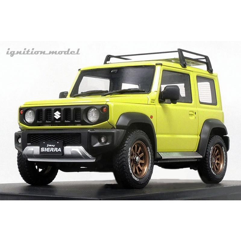 ☆12月新製品☆【ignition model】1/18 SUZUKI Jimny SIERRA JC (JB74W) Lift Up Kinetic Yellow/Black|alex-kyowa