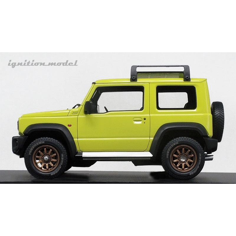 ☆12月新製品☆【ignition model】1/18 SUZUKI Jimny SIERRA JC (JB74W) Lift Up Kinetic Yellow/Black|alex-kyowa|02