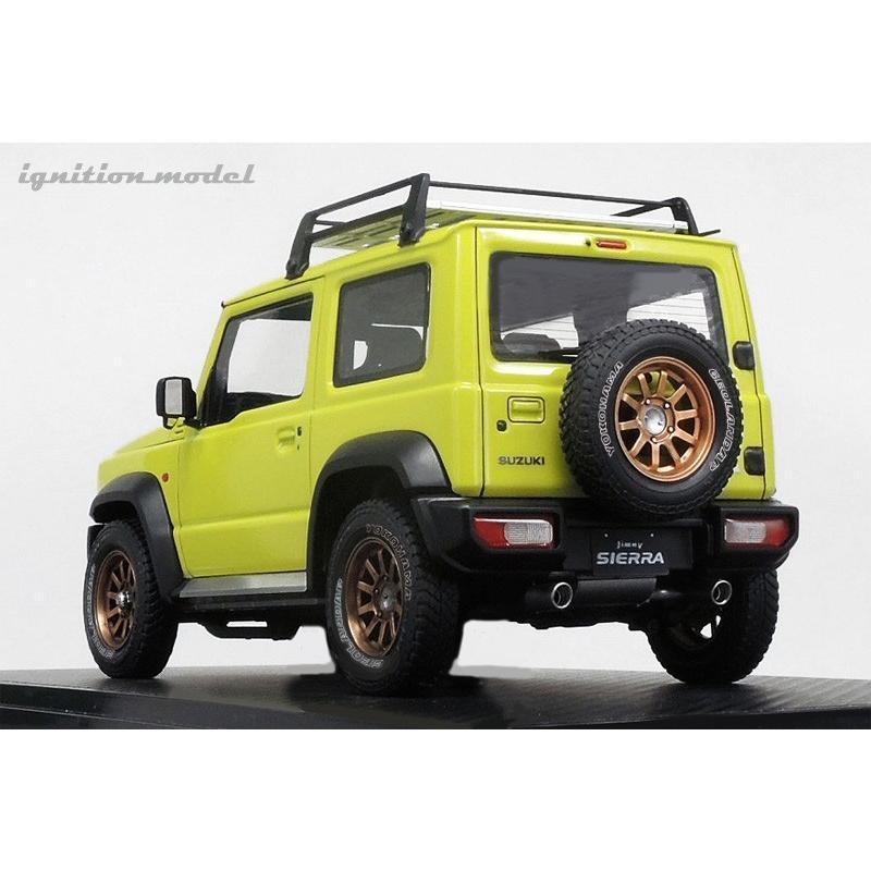 ☆12月新製品☆【ignition model】1/18 SUZUKI Jimny SIERRA JC (JB74W) Lift Up Kinetic Yellow/Black|alex-kyowa|03