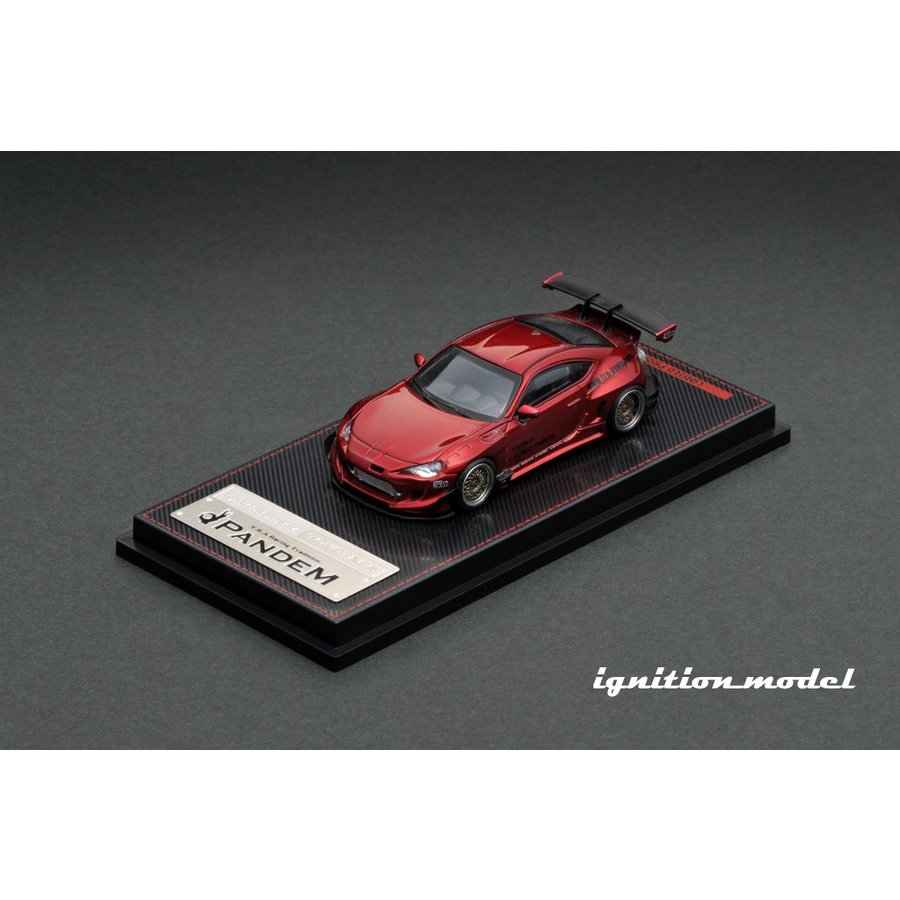 ☆コロナに負けるな応援特価!☆【ignition model】1/64 PANDEM TOYOTA 86 V3 Red Metallic alex-kyowa