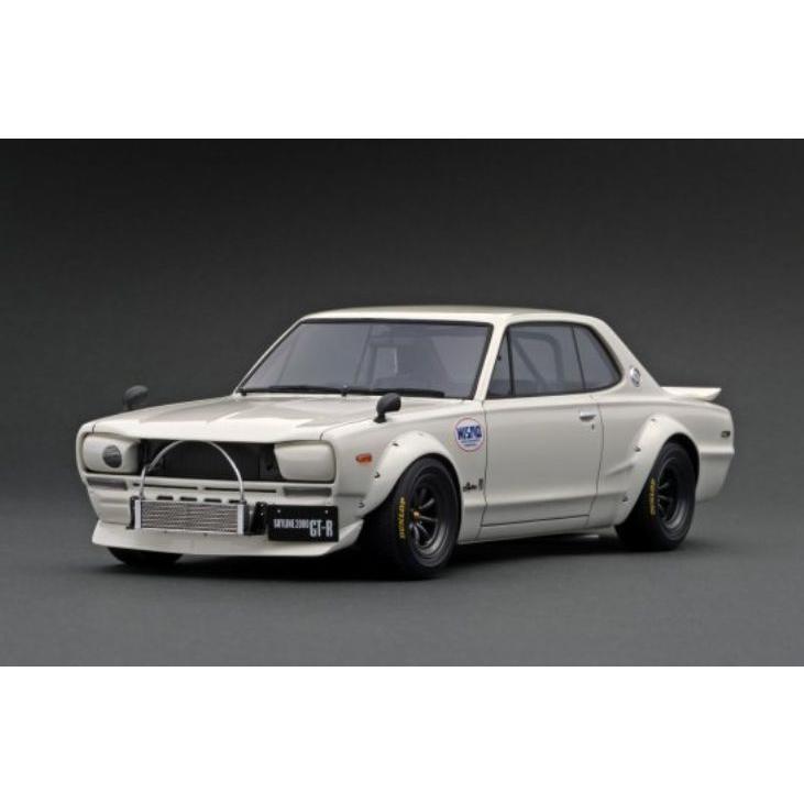 ☆11月新製品☆【ignition model】1/18 Nissan Skyline 2000 GT-R (KPGC10) White|alex-kyowa