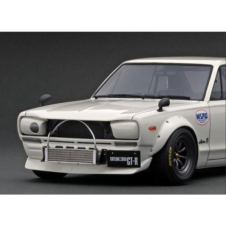 ☆11月新製品☆【ignition model】1/18 Nissan Skyline 2000 GT-R (KPGC10) White|alex-kyowa|04