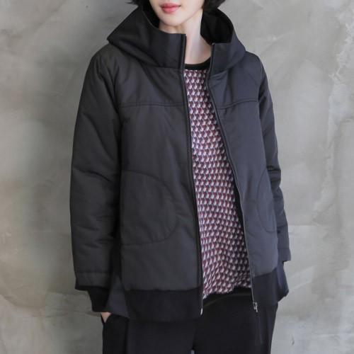 低価格の ジャケット レディース 大人 40代 50代 60代 ファッション 女性 上品 黒ハーフ丈 ジップアップ 冬 ミセス, ナカグン aa416271