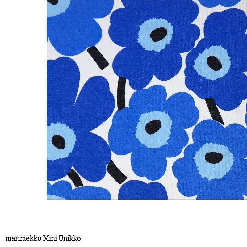 SSサイズ marimekko Miniunikko ブルー Blue 20×20cm ミニファブリックパネル ミニウニッコ  白ベースに青 北欧 3way マリメッコファブリックパネル alice55