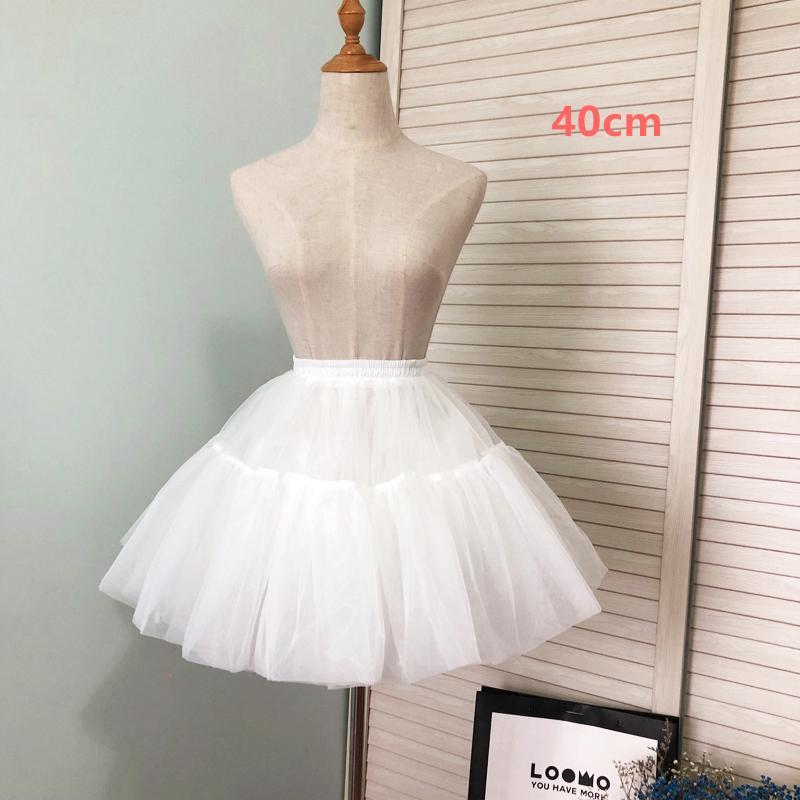 ロリータ パニエ 骨なし ボリューム ミニスカート レディース 丈40cm ホワイト かわいい 姫 コスチューム|alicedoll