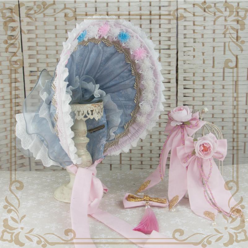 ロリータ レディース 帽子ハットボンネットカチューシャ ヘアドレスゴシック  花柄 Lolita alicedoll