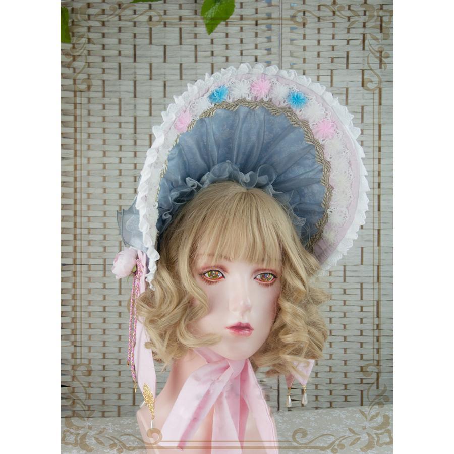 ロリータ レディース 帽子ハットボンネットカチューシャ ヘアドレスゴシック  花柄 Lolita alicedoll 02