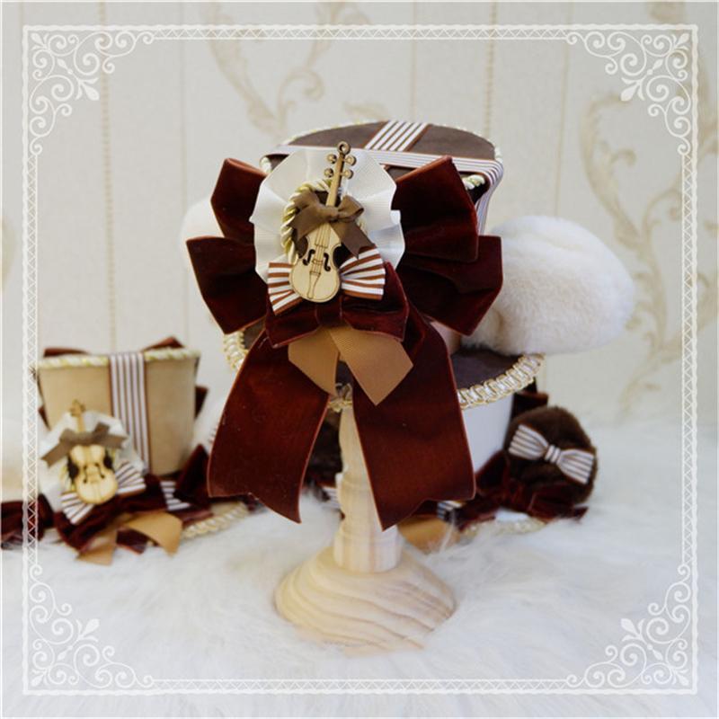 ロリータ 帽子 くま耳 レディース へアドレス コスプレ ゴシック モコモコ 豪華 レトロ かわいい 3色 クマ ハット ヘッドドレス|alicedoll|02