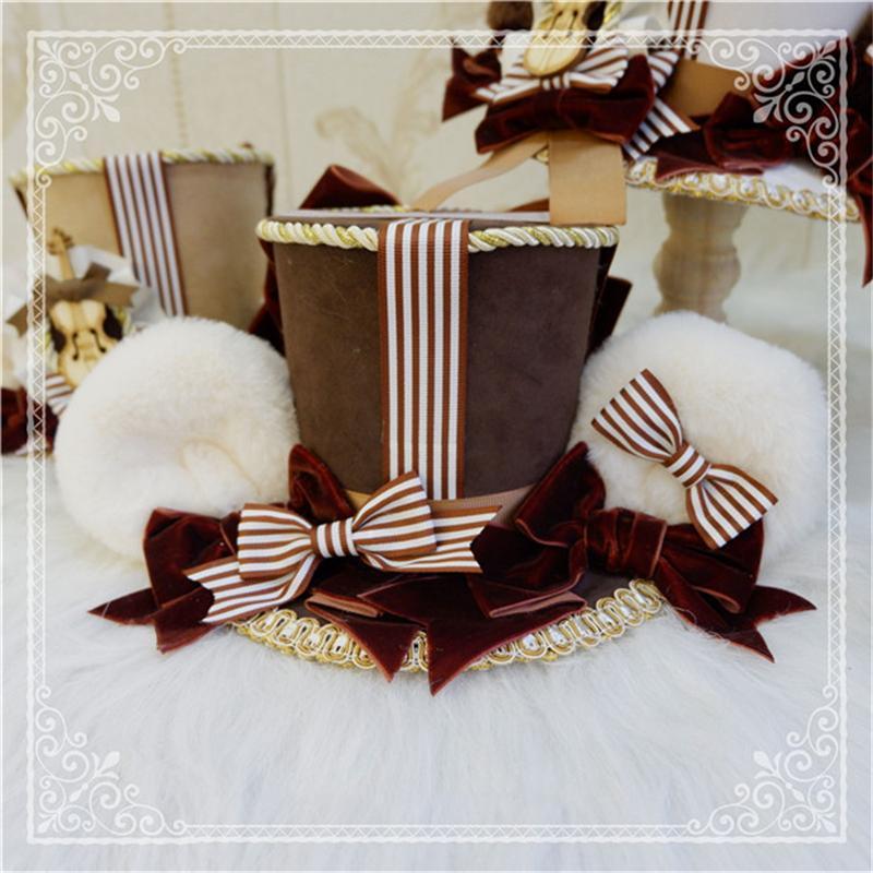 ロリータ 帽子 くま耳 レディース へアドレス コスプレ ゴシック モコモコ 豪華 レトロ かわいい 3色 クマ ハット ヘッドドレス|alicedoll|10