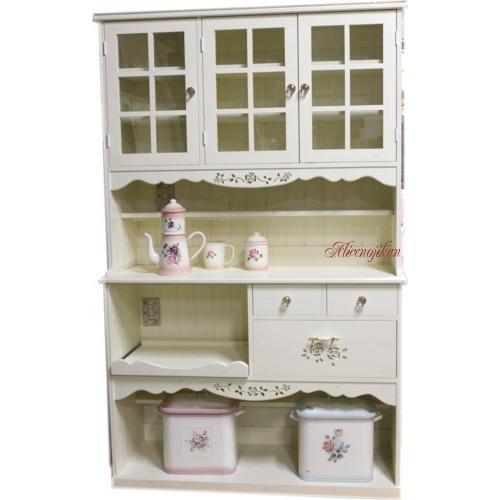 ロマンティックな 薔薇の食器棚 アリスローズ120 (アリスの時間)
