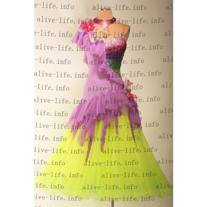 社交ダンス衣装 社交ダンスドレス モダンドレス デモ用ドレス セミオーダードレス ラテンドレス ワンピース WB3866
