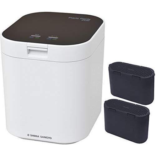 [セット品] 生ごみ減量乾燥機2点セット 島産業 パリパリキュー ブラック PPC-11-BK、脱臭フィルター PPC-11-AC33 セ·
