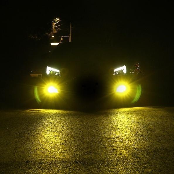 LED フォグランプ 2色切替 カラーチェンジ 3000kイエロー/6000kホワイト LEDバルブ ツインカラー H8/H9/H11/H16 HB3/HB4|all-select|05