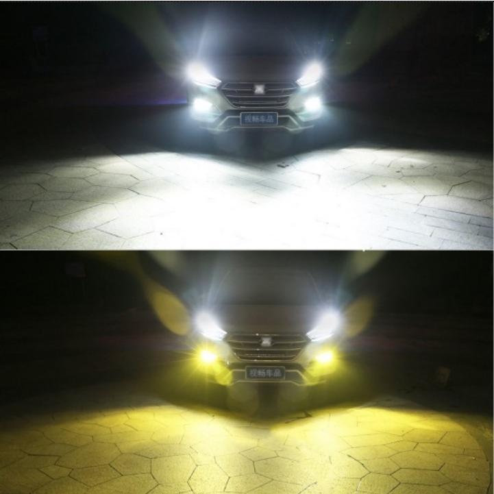 LED フォグランプ 2色切替 カラーチェンジ 3000kイエロー/6000kホワイト LEDバルブ ツインカラー H8/H9/H11/H16 HB3/HB4|all-select|07