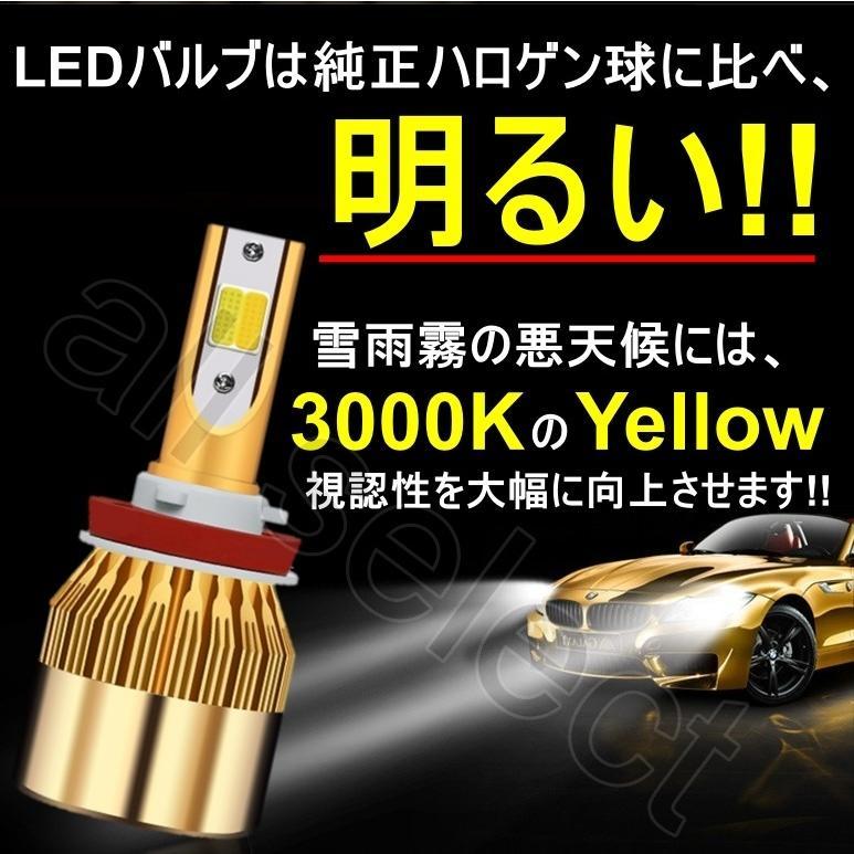 LED フォグランプ 2色切替 カラーチェンジ 3000kイエロー/6000kホワイト LEDバルブ ツインカラー H8/H9/H11/H16 all-select 04
