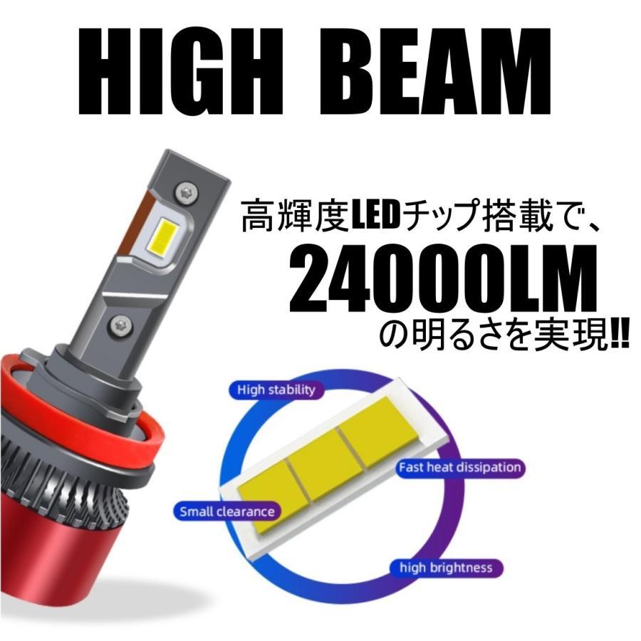 高輝度 LEDヘッドライト フォグランプ H4/H8/H9/H11/H16 COBチップ 12V 24000Lm 6000K 2本 車検対応 ポン付け Hi/Lo 切替式 all-select 04