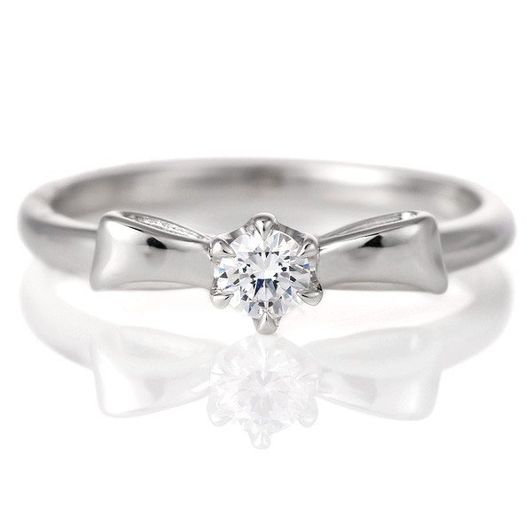 新発売の 婚約指輪 ダイヤモンド プラチナ リング 0.3ct 天然石 エンゲージリング 鑑定書 リボン セール, シンカワチョウ 3ddefc15