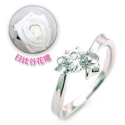 婚約指輪ダイヤモンド プラチナエンゲージリング6月誕生石ムーンストーン 日比谷花壇誕生色バラ付【今だけ代引手数料無料】