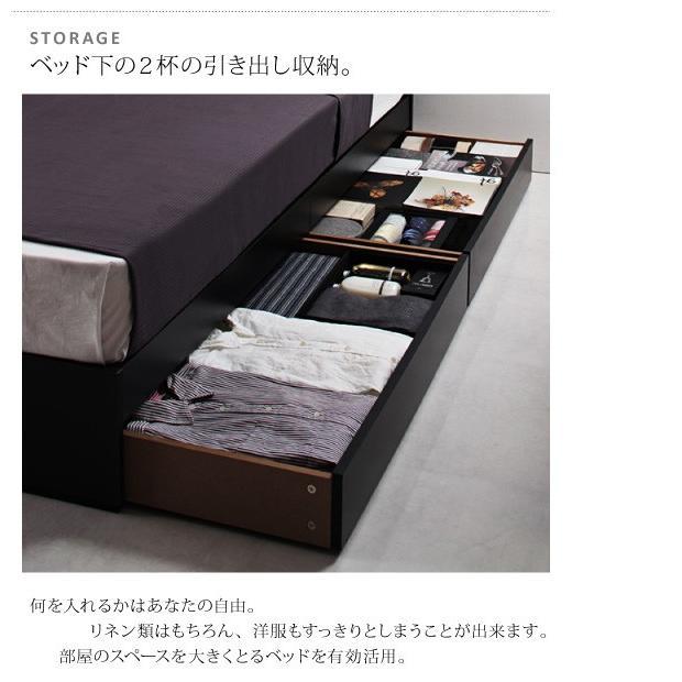 ベッド シングル ベッド 収納 スタンダードポケットコイルマットレス付き alla-moda 08
