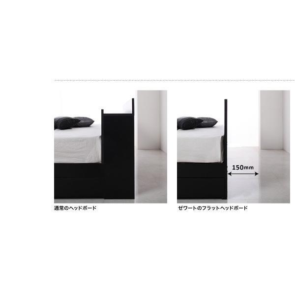 ベッド ベット 収納 セミダブル スタンダードポケットコイルマットレス付き alla-moda 07