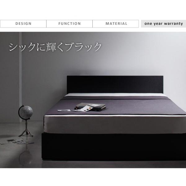 ベッド ダブル ベッド 収納 プレミアムボンネルコイルマットレス付き alla-moda 03