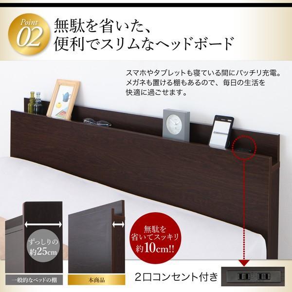 ベッド 収納付き 跳ね上げ セミダブル 薄型スタンダードボンネルコイル 縦開き 深さ レギュラー お客様組立|alla-moda|11