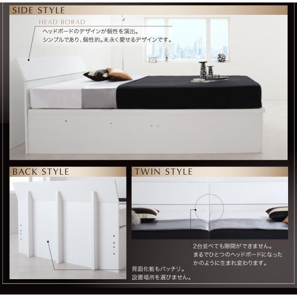 ベッドフレームのみ ガス圧ベッド 跳ね上げ 収納 セミダブル 縦開き 深さレギュラー お客様組立|alla-moda|05
