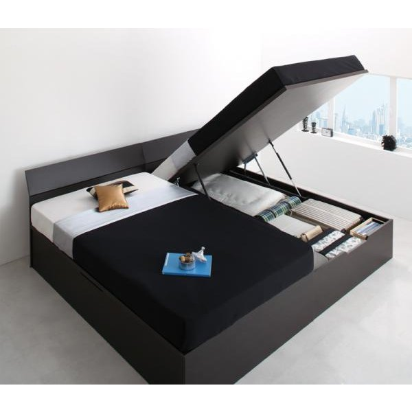 ガス圧ベッド 跳ね上げ シングル 薄型ボンネルコイル縦開き 深さグランド お客様組立|alla-moda|21