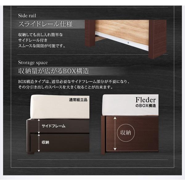 ベッドフレームのみ ダブルベッド 床板仕様 組立設置付 国産 収納|alla-moda|07