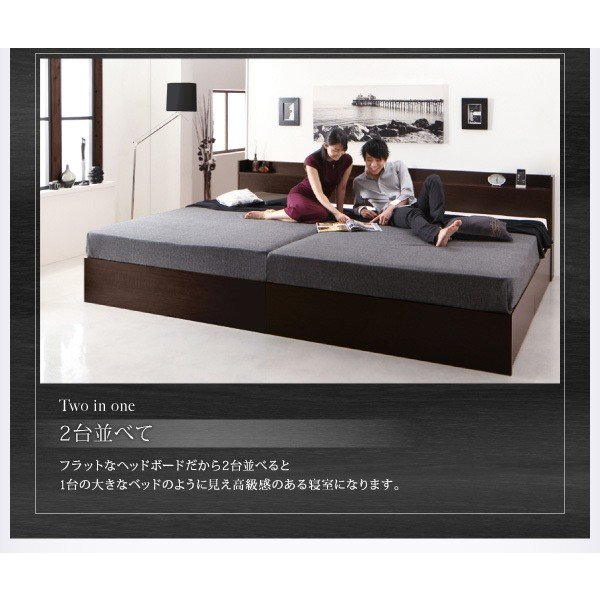 ベッドフレームのみ ダブルベッド 床板仕様 組立設置付 国産 収納|alla-moda|09