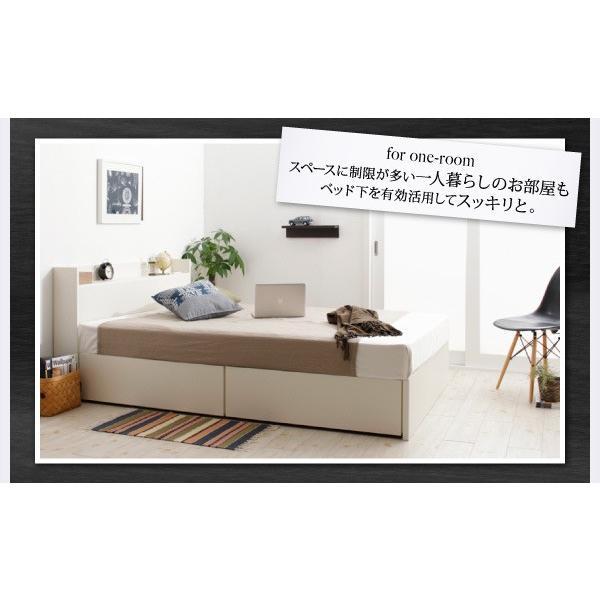 ベッド セミダブル スタンダードボンネルコイル 床板仕様 組立設置付 国産 収納 alla-moda 15
