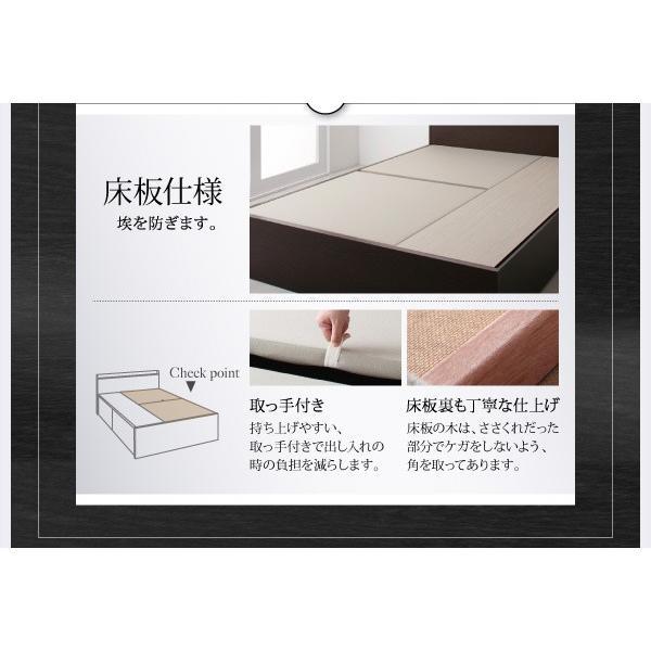 ベッド セミダブル スタンダードボンネルコイル 床板仕様 組立設置付 国産 収納 alla-moda 20