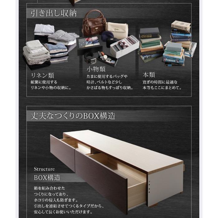 ベッド セミダブル スタンダードボンネルコイル 床板仕様 組立設置付 国産 収納 alla-moda 06