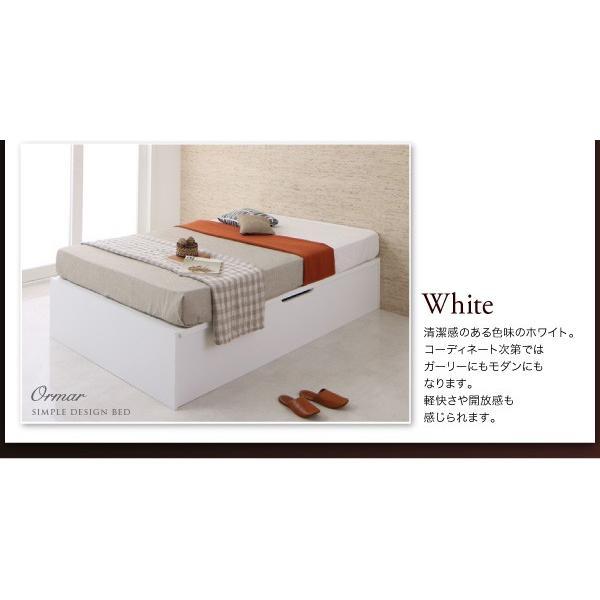 ガス圧ベッド 跳ね上げ シングル ポケットコイルマットレスハード付き 縦開き 深さ グランド 組立設置付|alla-moda|19