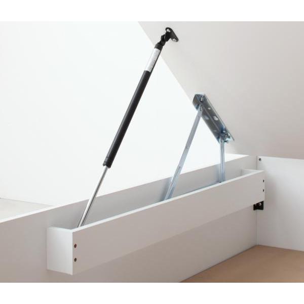 ベッド 跳ね上げ セミダブル ガス圧 収納 薄型ボンネルコイル縦開き 深さラージ 組立設置付 alla-moda 19