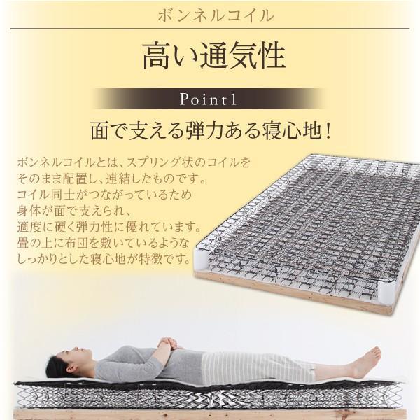 ベッド セミシングル 大容量 ベッド 跳ね上げ ポケットコイル 横開き 深さラージ 組立設置付 alla-moda 21