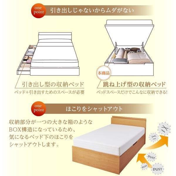 シングルベッド 大容量 ベッド 跳ね上げ ポケットコイル 横開き 深さラージ 組立設置付|alla-moda|12