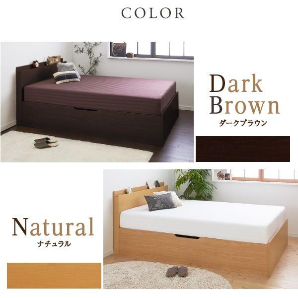 ベッド セミダブル 大容量 ベッド 跳ね上げ ポケットコイル 横開き 深さラージ 組立設置付|alla-moda|17