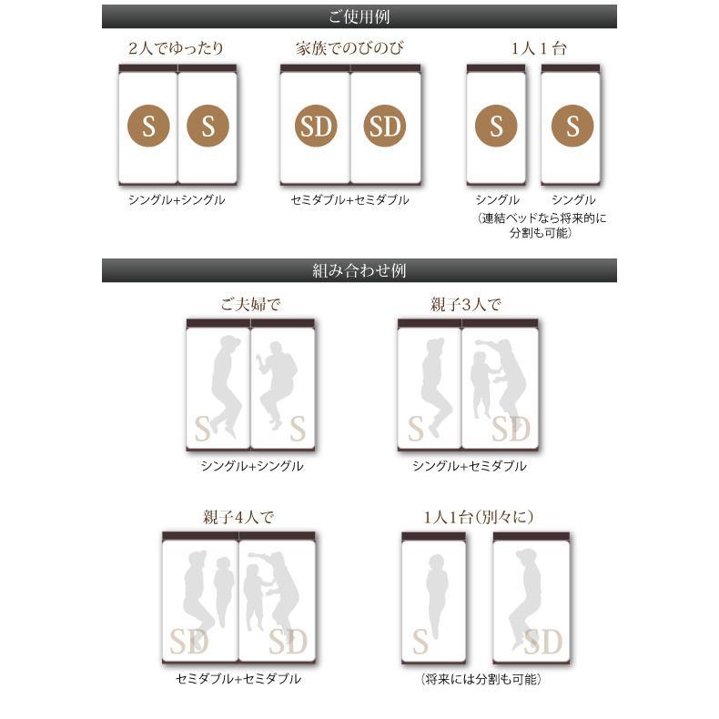 連結 すのこベッド 収納 スタンダードポケットルコイル A+Bタイプ ワイドK240(SD×2) 組立設置付|alla-moda|10