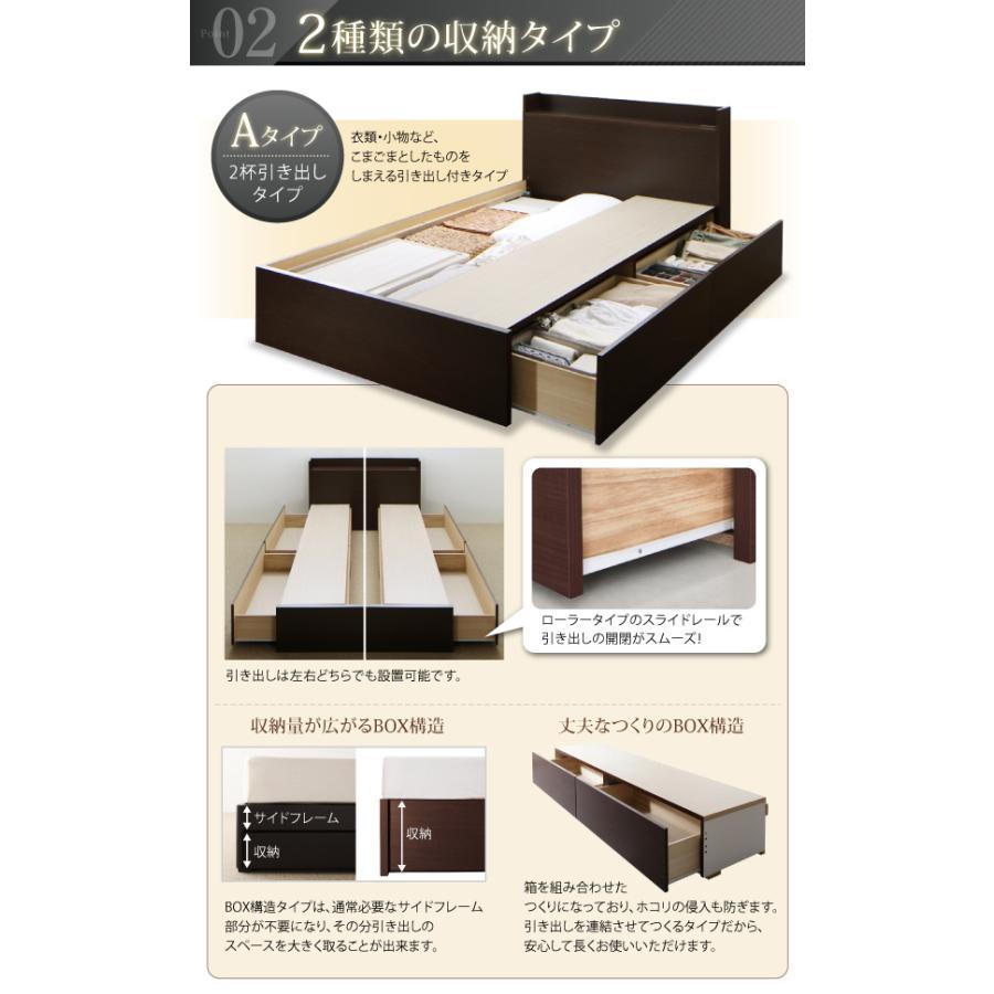 セミダブル ベッド 連結 収納 フランスベッド マルチラススーパースプリングマットレス付き Aタイプ 組立設置付|alla-moda|05