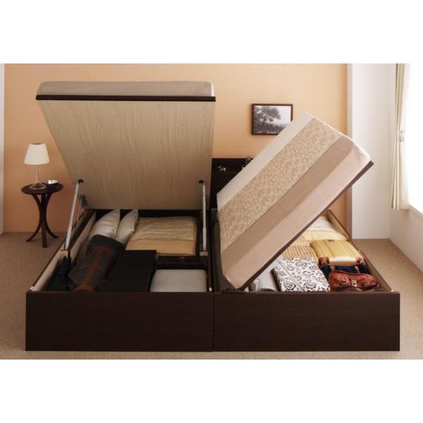 シングルベッド 跳ね上げ ベッド 収納 薄型スタンダードポケットコイル 横開き 深さレギュラー 組立設置付|alla-moda|16