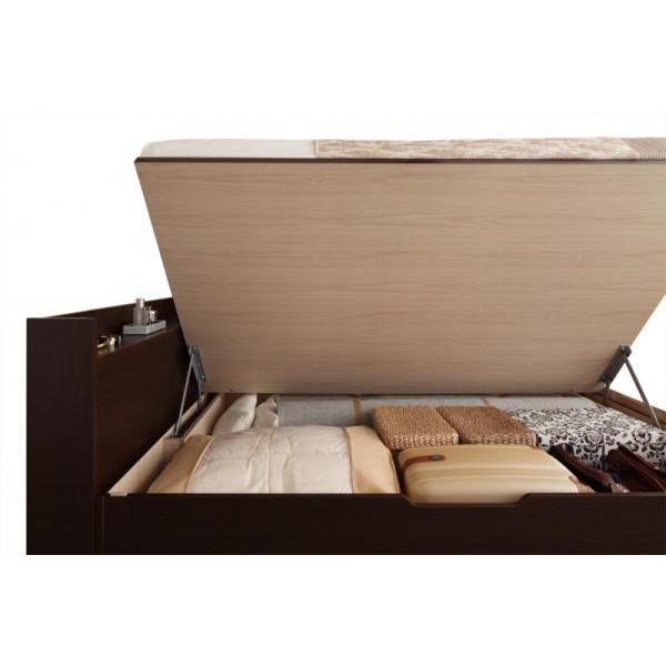 シングルベッド 跳ね上げ ベッド 収納 薄型スタンダードポケットコイル 横開き 深さレギュラー 組立設置付|alla-moda|17