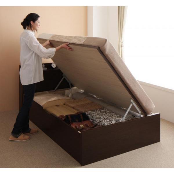 シングルベッド 跳ね上げ ベッド 収納 薄型スタンダードポケットコイル 横開き 深さレギュラー 組立設置付|alla-moda|18
