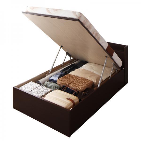 シングルベッド 跳ね上げ ベッド 収納 薄型スタンダードポケットコイル 横開き 深さレギュラー 組立設置付|alla-moda|20