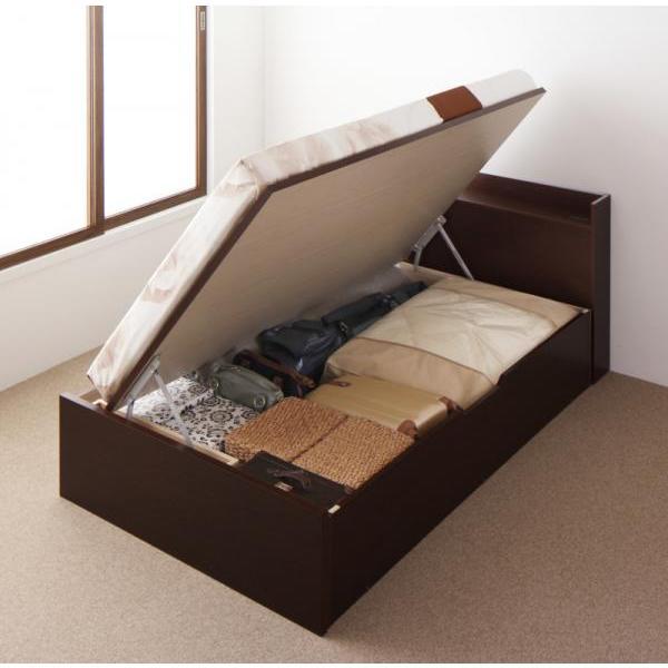 シングルベッド 跳ね上げ ベッド 収納 薄型スタンダードポケットコイル 横開き 深さレギュラー 組立設置付|alla-moda|21