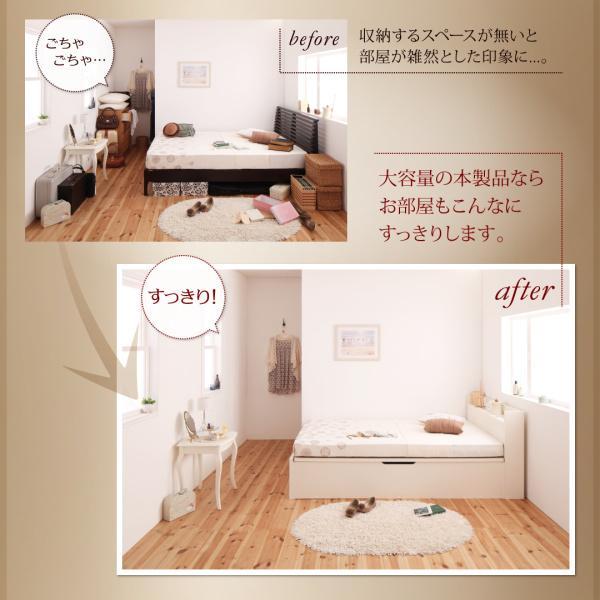 シングルベッド 跳ね上げ ベッド 収納 薄型スタンダードポケットコイル 横開き 深さレギュラー 組立設置付|alla-moda|04