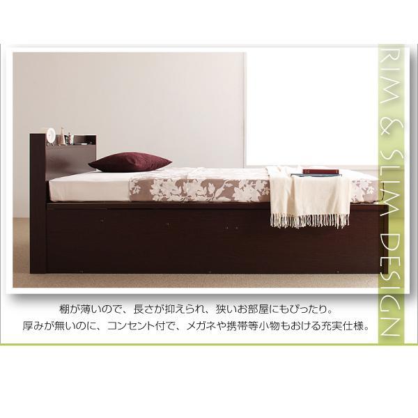 ベッド 跳ね上げ 収納 セミダブル 薄型スタンダードポケットコイル縦開き 深さレギュラー 組立設置付|alla-moda|08
